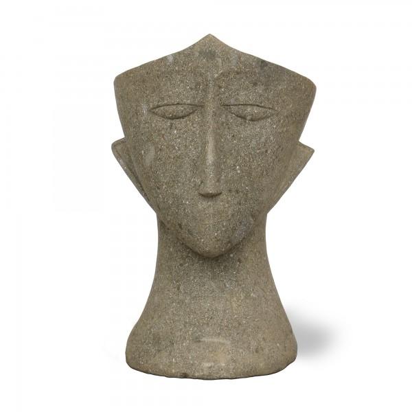 Blumentopf 'Tibot' aus Naturstein, grau, T 76 cm, B 54 cm, H 74 cm