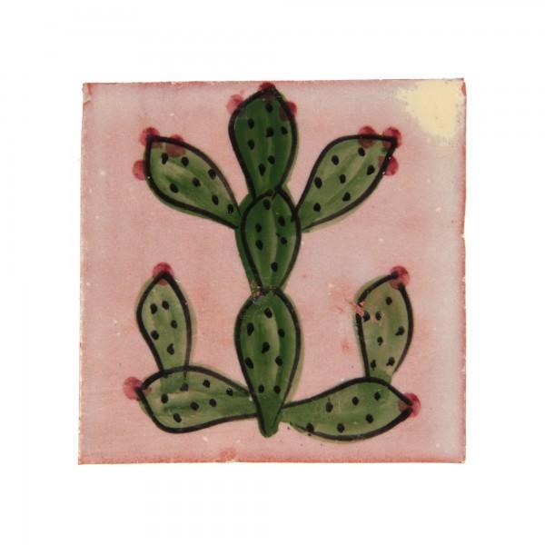 """Fliese """"figuier"""", grün/weiß, L 10 cm, B 10 cm, H 1 cm"""
