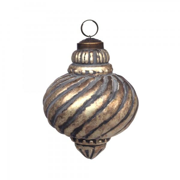 Anhänger Tempel, gold, T 10 cm, B 10 cm, H 10 cm