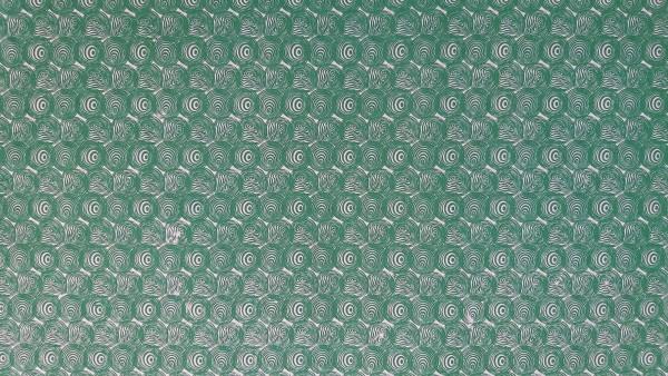 Geschenkpapier 'Spiralen', weiß, grün, L 76 cm, B 51 cm