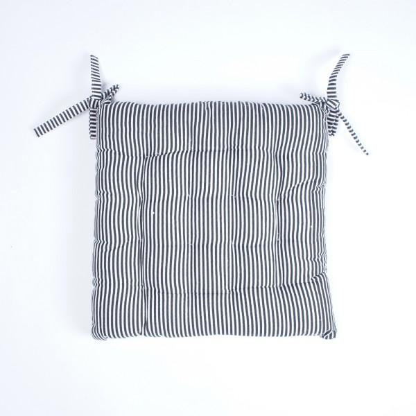 """Kissen """"Jail"""", schwarz/weiß, L 40 cm, B 40 cm"""