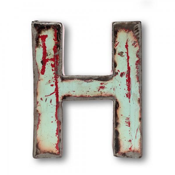 Metallbuchstabe 'H', multicolor, T 16 cm, B 20 cm, H 4 cm