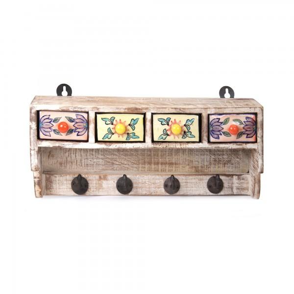Kleine Hängekommode mit Haken, multicolor, L 12 cm, B 47 cm, H 20 cm