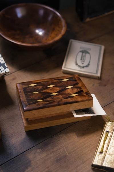 Thuja Box, braun, T 13 cm, B 9 cm, H 3,5 cm