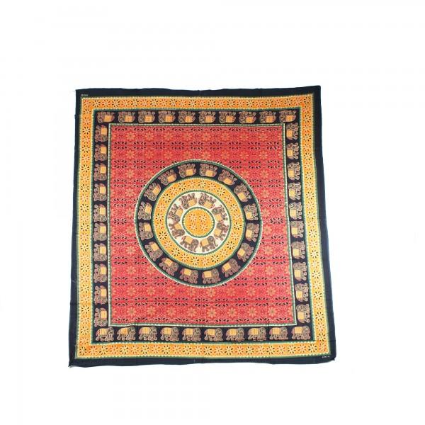 "Tagesdecke ""Girija"", aus 100% Baumwolle, multicolor, L 260 cm, B 220 cm"