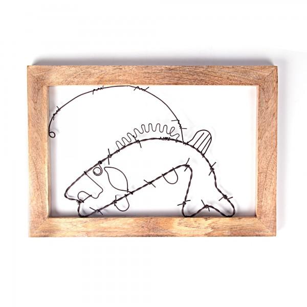 Bilderrahmen Fisch, Draht, L 1 cm, B 40 cm, H 28 cm