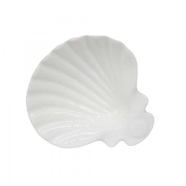 Schale 'Shell', weiß, T 14 cm, B 15 cm, H 4 cm
