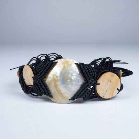 Wildledergürtel mit Muschel, L 155 cm, B 9,5 cm