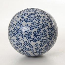 "Keramikkugel ""Winter"", Ø 10 cm"