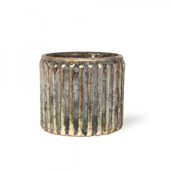Windlicht 'Wafre', gold, Ø 10 cm, H 8 cm