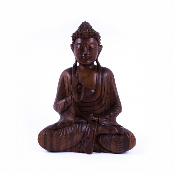 "Buddha ""Chakra"" aus Holz, braun, L 13 cm, B 24 cm, H 31 cm"