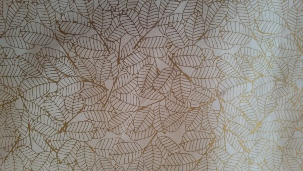 Geschenkpapier 'Blätter', beige, gold, T 76 cm, B 51 cm