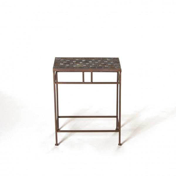 """Mosaiktisch """"Castille"""", L, aus Naturstein, grau/braun, L 30 cm, B 48 cm, H 58 cm"""