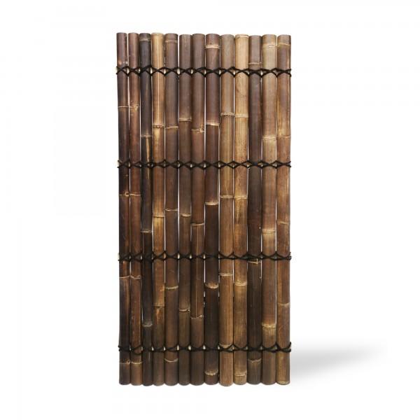 Bambuswand mit halbierten Stangen, natur, T 100 cm, B 200 cm