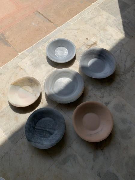 Marmorschale, natur, Ø 24 cm, H 6 cm