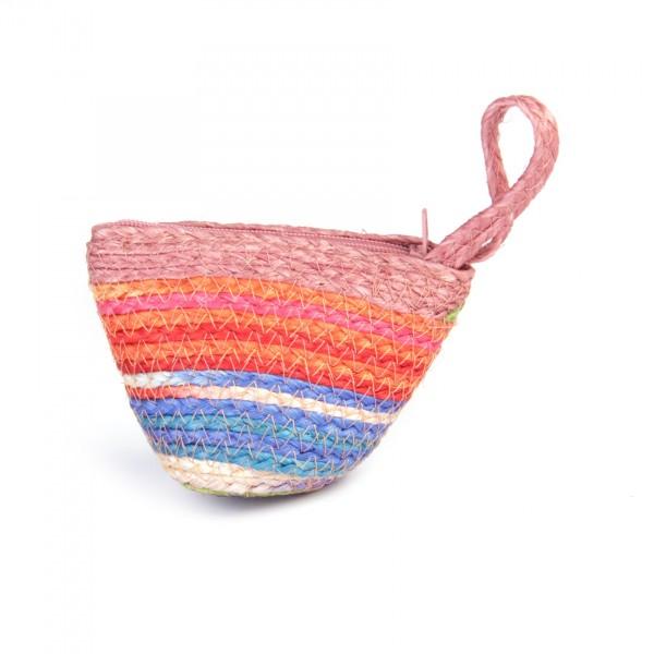 """Geldbörse """"Rainbow"""", mit Reißverschluss, multicolor/lachs, B 10 cm, H 7 cm"""