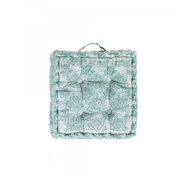 Sitzkissen 'Kamala', grün, L 40 cm, B 40 cm, H 8 cm