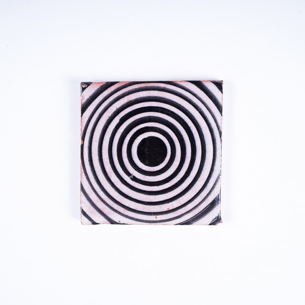 """Fliese """"darkhole"""", schwarz/weiß, L 10 cm, B 10 cm, H 1cm"""