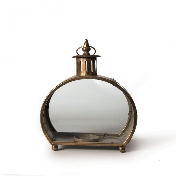 Laterne 'Mackay' aus Metall, L 14 cm, B 27 cm, H 32 cm