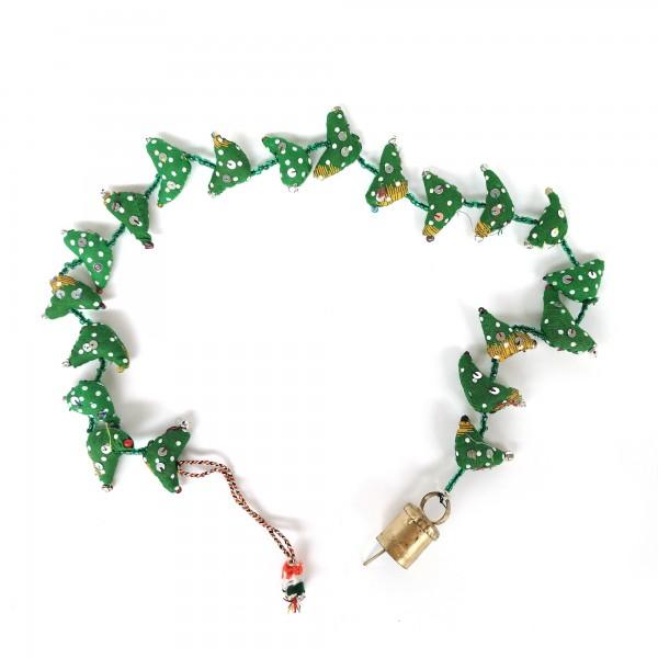 20er Girlande 'Vögel' hängend, grün, T 4,5 cm, B 2,5 cm, H 95 cm