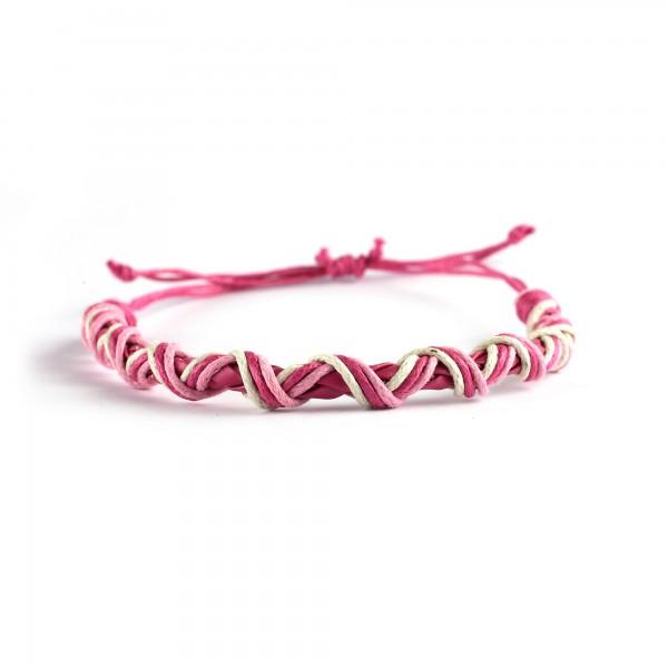 Armband geflochten, pink, Ø 10 cm