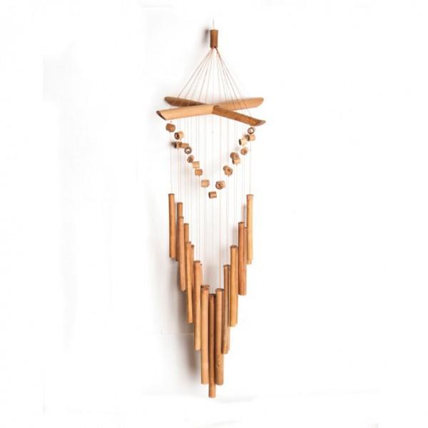 Windspiel aus Bambus, B 26 cm, L 73 cm
