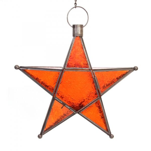"""Laterne """"Süleyman"""", orange, Ø 31 cm"""