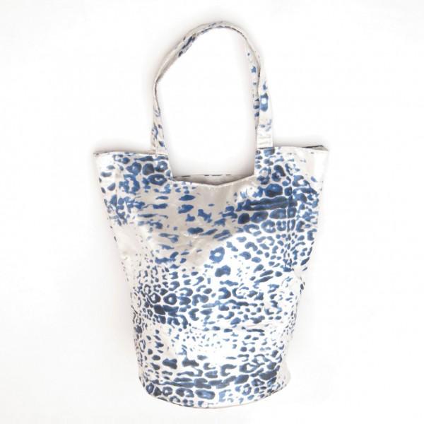 """Tasche """"Blue Croco"""", blau/weiß"""