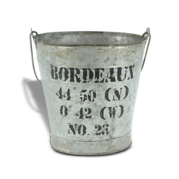 """Zinkeimer """"Bordeaux"""", silber, L 12 cm, B 16 cm, H 17 cm"""