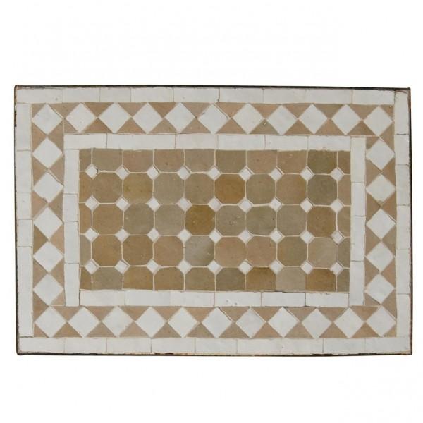 Mosaiktisch, beige, L 50 cm, B 30 cm, H 50 cm