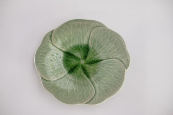 Teller 'Plumeria', grün, Ø 23 cm