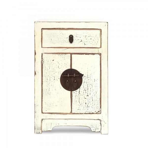 Kommode, 2 Türen, 1 Schublade, weiß, T 30 cm, B 40 cm, H 60 cm