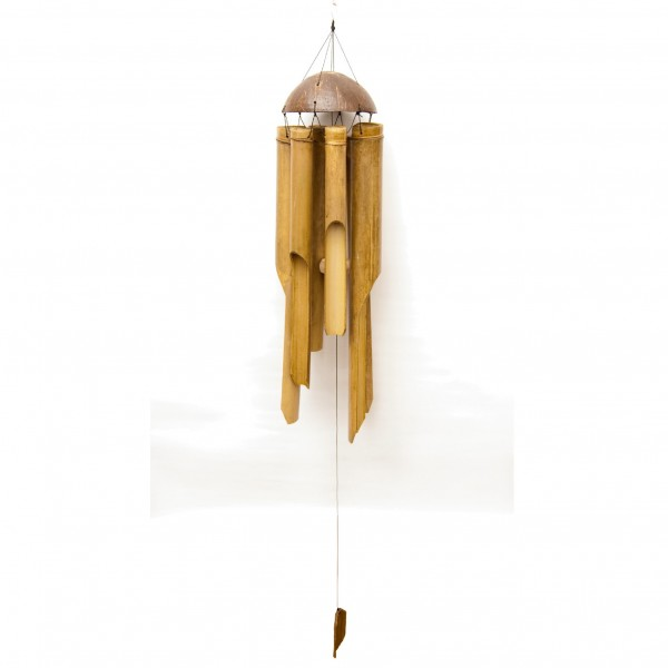 Windspiel aus Bambus, H 50 cm, Ø 15 cm