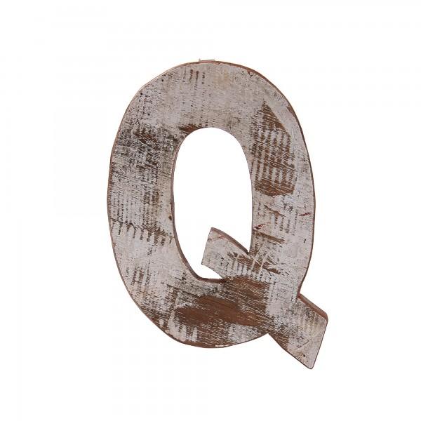 Holzbuchstabe 'Q', mehrfarbig, T 2,5 cm, B 13 cm, H 19 cm
