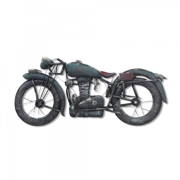 Wandkunst 'Motorrad', grün, T 7 cm, B 80 cm, H 40 cm