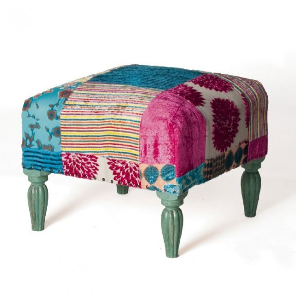 "Hocker ""Anand"", multicolor, L 50 cm, B 50 cm, H 35 cm"