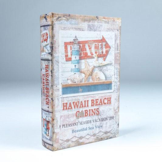 """Buch-Tresor """"Hawaii Beach Cabins"""", L 5 cm, B 16 cm, H 24 cm"""
