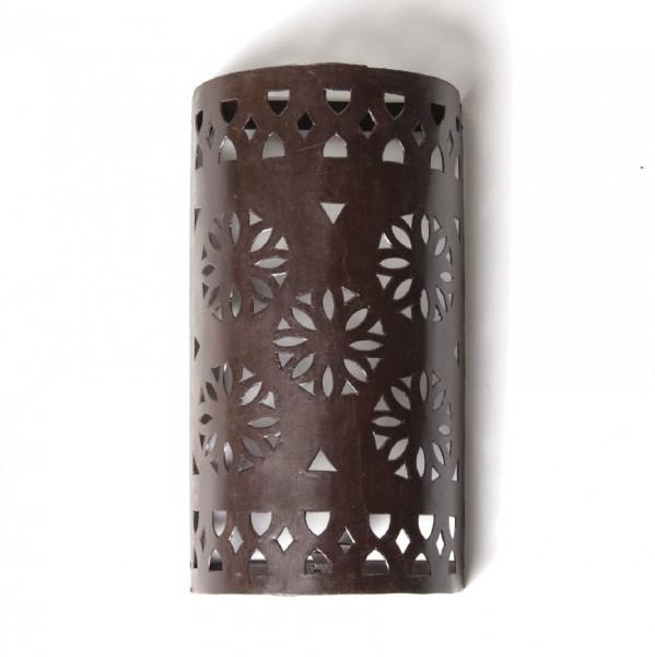 """Wandleuchte """"Roue"""", antik-braun, L 7 cm, B 13,5 cm, H 25 cm"""