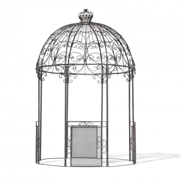 Pavillon 'Jaques', rostbraun, schwarz, Ø 220 cm, H 341 cm