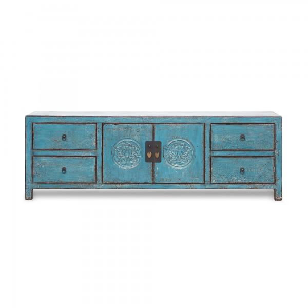 TV-Board 'Basilius', blau, T 40 cm, B 180 cm, H 60 cm