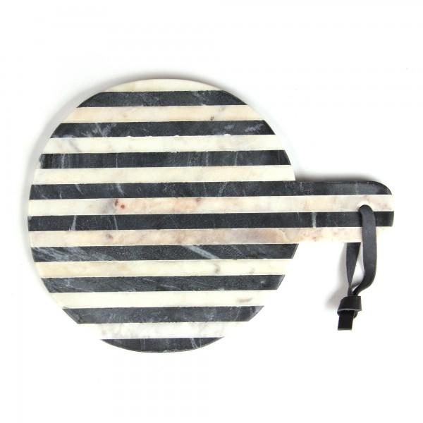 Schneidebrett 'Zebara', schwarz, weiß, T 30 cm, B 22 cm, H 1,5 cm
