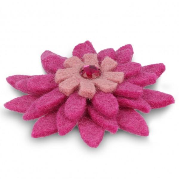 "Brosche ""Gerbera"", rosa/pink, Ø 11 cm"