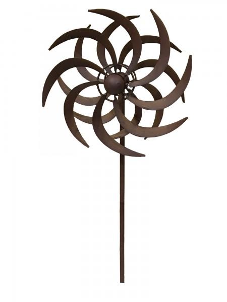 "Windrad ""Sten"", braun, Ø 24 cm, H 131 cm"