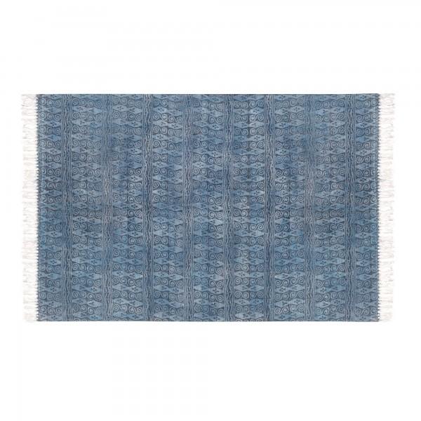Teppich 'Kudaal', blau, T 140 cm, B 200 cm