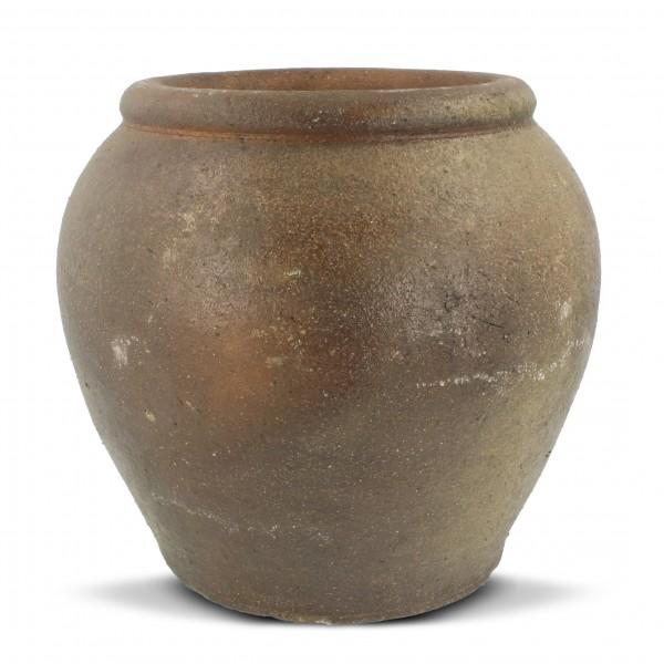 Wasserfass aus Ton, braun, Ø 23 cm