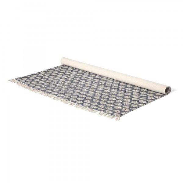 Teppich 'Suket', schwarz, weiß, T 140 cm, B 200 cm