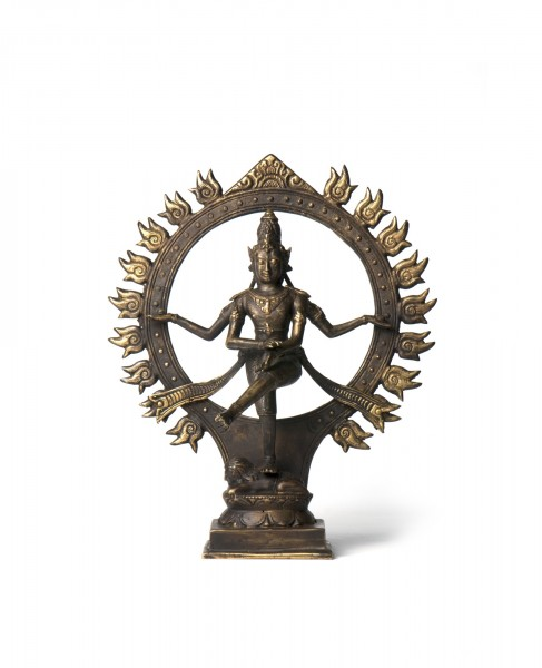 Shiva tanzend Kreis, bronze, T 15 cm, B 25 cm, H 29 cm