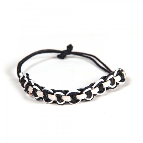 """Armband """"Stannis"""", schwarz/weiß"""