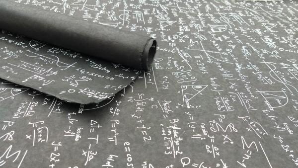 Geschenkpapier 'Formeln', schwarz, weiß, L 76 cm, B 51 cm