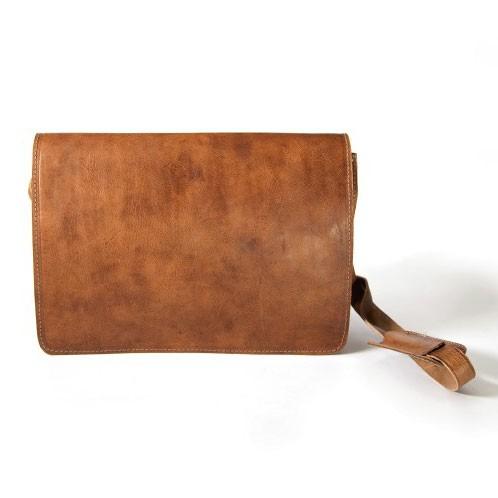Messengertasche, hellbraun, B 52 cm, H 40 cm